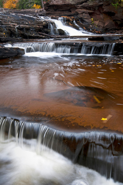 M 144                        Autumn at Manido Falls on the Presque Isle River, Porcupine Mountains Wilderness State Park, Michigan.
