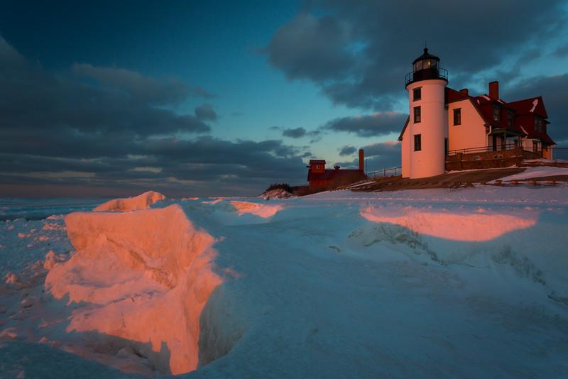 Point Betsie Frozen Sunset III