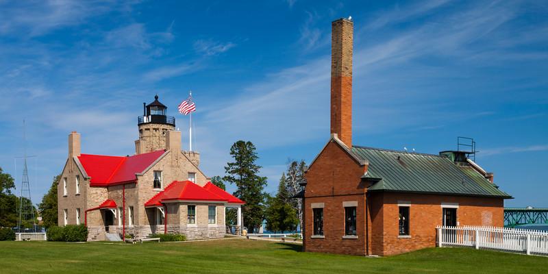 Old Mackinac Fog-signal and Lighthouse Buildings