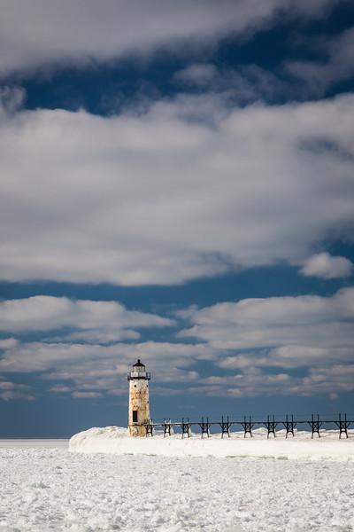 Manistee Light Winter