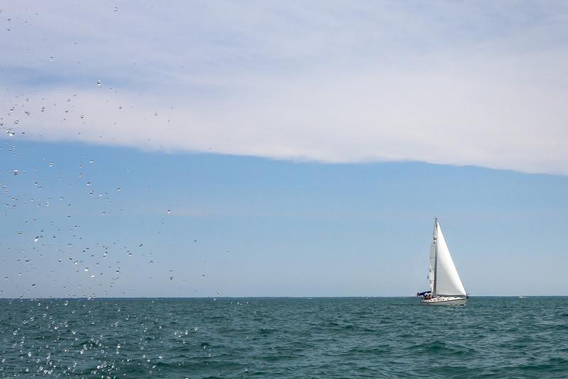 Sailboat and Spray, Lake St Clair MI