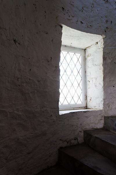 Window on tower of Old Presque Isle Light. Presque Isle, MI<br /> <br /> MI-100727-0073