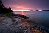 MI 081                       Sunrise over Rock Harbor at Isle Royale National Park in Michigan.