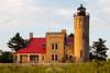 Sunrise light shines on the Old Mackinac Point lighthouse. Mackinaw City, MI<br /> <br /> MI-110708-0219
