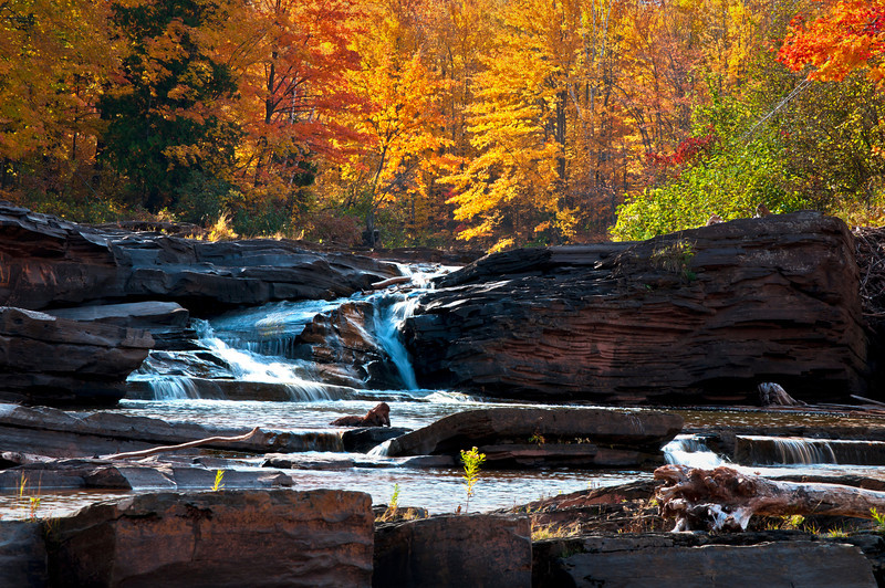 MI 101                              Autumn at Bonanza Falls on the Big Iron River in Michigan's Upper Peninsula.