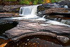 M 146                       Autumn at Manido Falls on the Presque Isle River, Porcupine Mountains Wilderness State Park, Michigan.