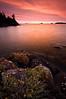 MI 076                     Sunrise over Rock Harbor at Isle Royale National Park in Michigan.