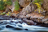 M 119                           Autumn at Horserace Rapids on Michigan's Paint River.