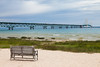 View of the Mackinac Bridge from Mackina City. Mackinaw City, MI<br /> <br /> MI-090625-0020