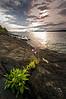 MI 060                    Sunrise over Rock Harbor at Isle Royale National Park in Michigan.