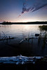 MI 065                    Twilight at Tobin Harbor in Isle Royale National Park, Michigan.
