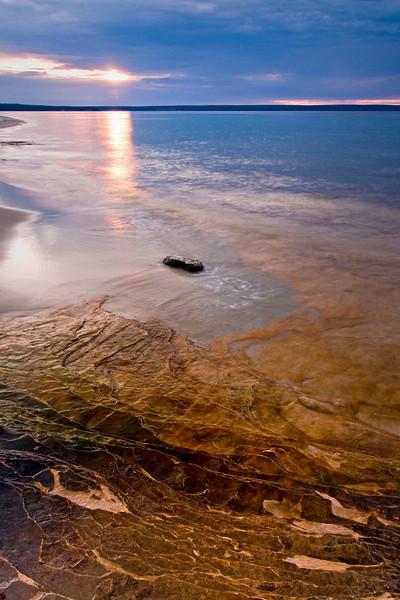 MI 006                       Sunset over Lake Superior at Miner's Beach in Michigan's Upper Peninsula.