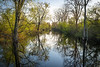MI 229<br /> <br /> Late afternoon reflections in the calm surface of the Portage River in southeaster Michigan.