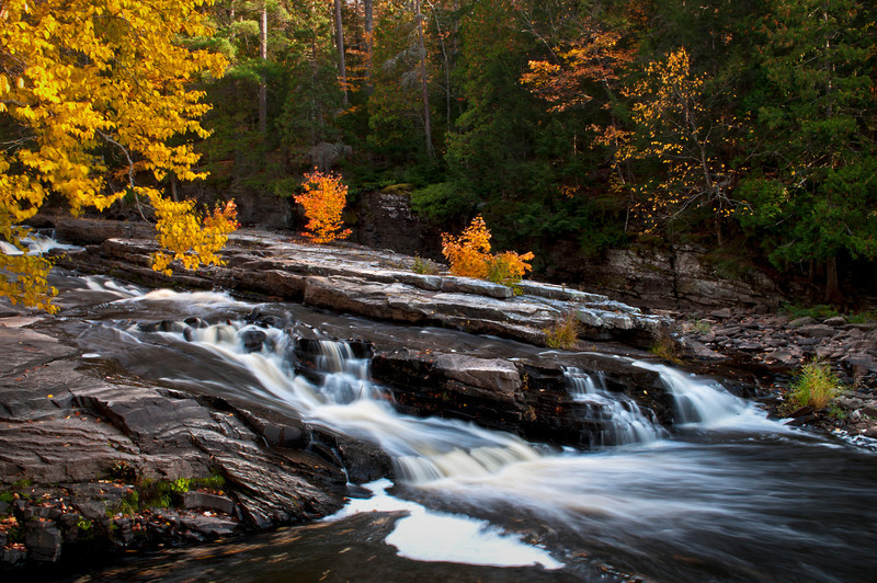 MI 193                           Autumn at Lower Canyon Falls on the Sturgeon River in M ichigan's Upper Peninsula.