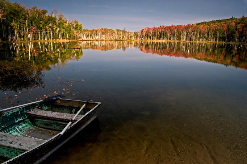 MI 013                         Sunrise on Red Jack Lake in Hiawatha National Forest, Michigan.