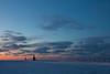 The sky behind the St. Joseph Lights glow orange as sunset fades away. St. Joseph, MI<br /> <br /> MI-090125-0207