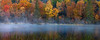 MI 184                         A panoramic view of the fall colors along the Michigamme River in Michigan's Upper Peninsula.