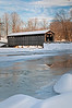 MI 212                        The Fallasburgh Covered Bridge in winter.  One of only three covered bridges still open to traffic, the bridge spans the Flat River.