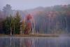 MI 021                      Sunrise on Council Lake in Hiawatha National Forest, Michigan.
