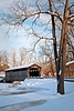 MI 213                          The Fallasburgh Covered Bridge in winter.  One of only three covered bridges still open to traffic, the bridge spans the Flat River.