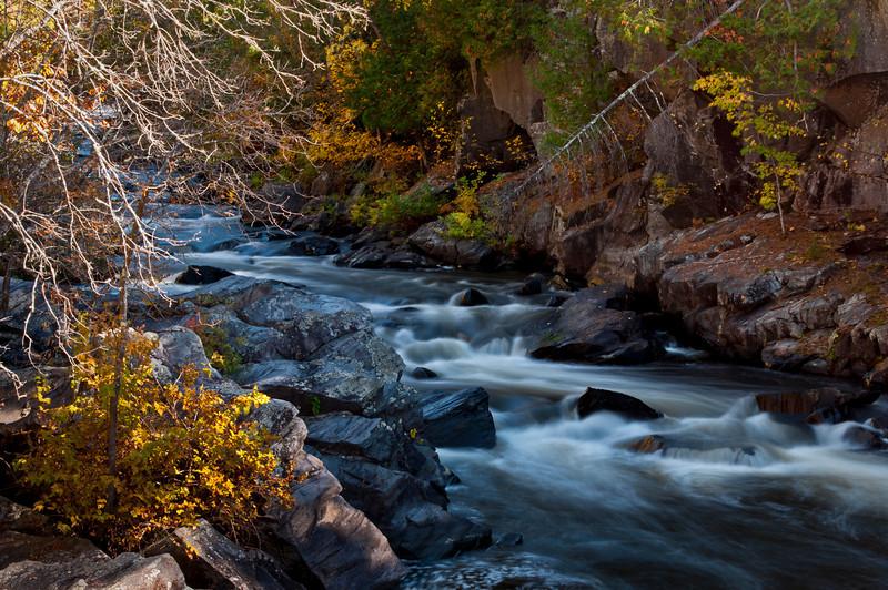 MI 116                       Autumn at Horserace Rapids on Michigan's Paint River.