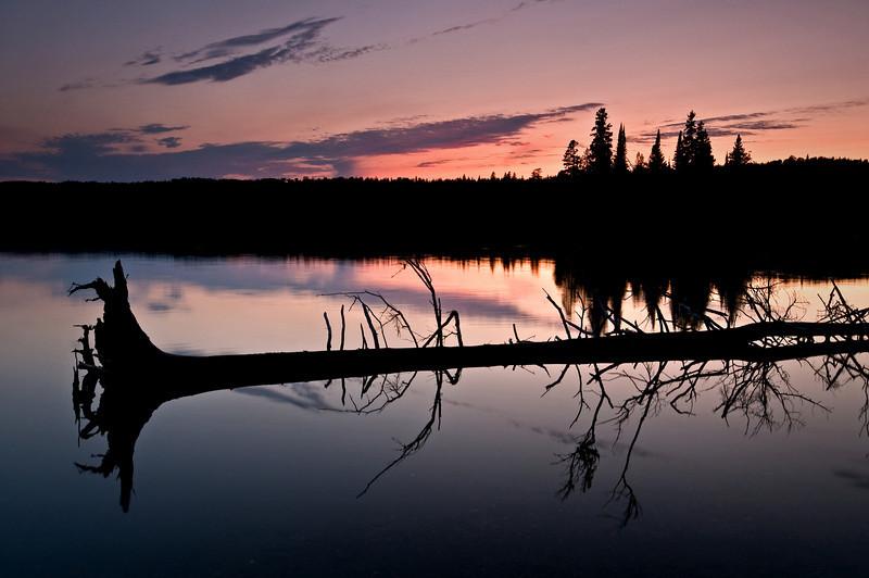 MI 068                      Twilight at Tobin Harbor in Isle Royale National Park, Michigan.