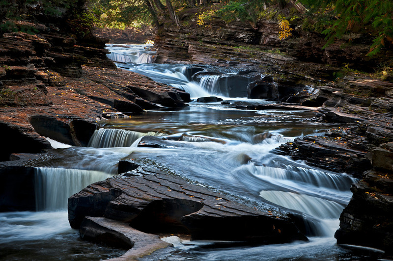 M 125                          The Presque Isle River winds through the Porcupine Mountains Wilderness State Park in Michigan's Upper Peninsula.