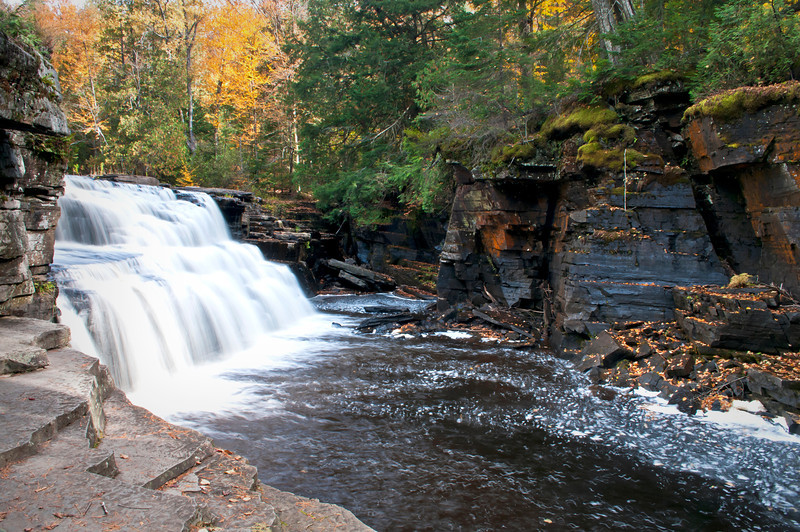 MI 186<br /> <br /> The Sturgeon River plunges over Canyon Falls in Michigan's Upper Peninsula.