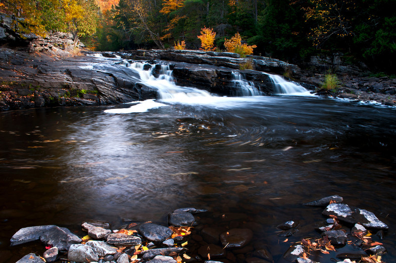 MI 196<br /> <br /> Autumn at Lower Canyon Falls on the Sturgeon River in M ichigan's Upper Peninsula.