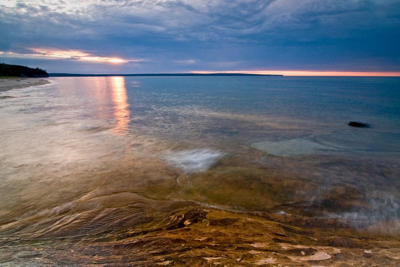 MI 005                        Sunset over Lake Superior at Miner's Beach in Michigan's Upper Peninsula.