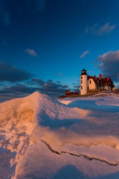 Point Betsie Frozen Sunset II