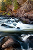 M 118                           Autumn at Horserace Rapids on Michigan's Paint River.