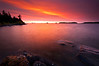 MI 079                     Sunrise over Rock Harbor at Isle Royale National Park in Michigan.