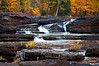 MI 103                             Autumn at Bonanza Falls on the Big Iron River in Michigan's Upper Peninsula.