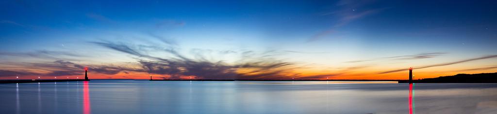 Muskegon Harbor Panorama