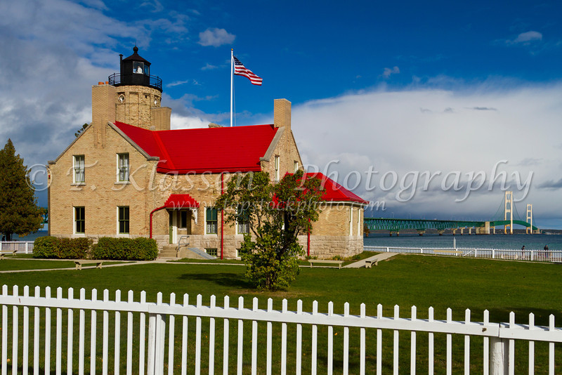 The Old Mackinac Point Lighthouse in Mackinaw City, Michigan, USA.