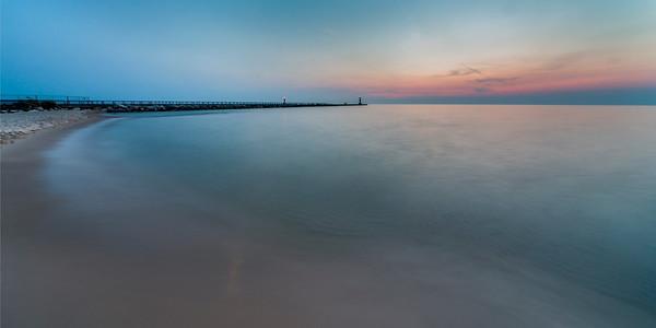 Onekama Shore after Sunset