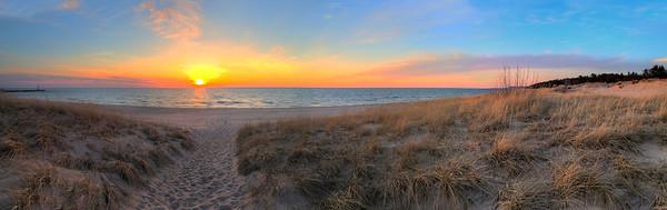 Onekama Shoreline Sunset