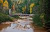 Seasonal Suspense- North Country Trail Bridge (O Kun De Kun Falls Area - Upper Michigan)