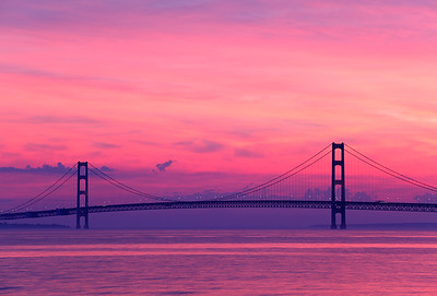 Surreal Suspension - Mackinac Bridge (Michigan)