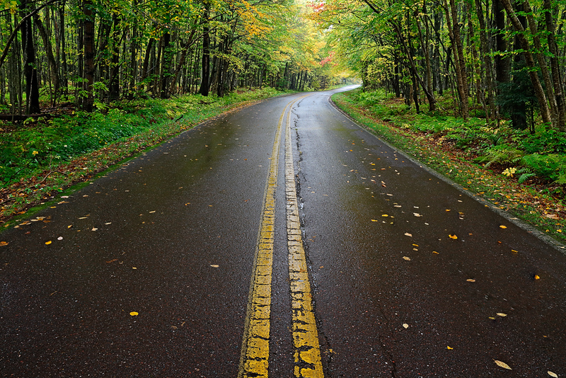 Center Line - Hwy 519 (Porcupine Mountains - Upper Michigan)