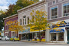 Downtown main street and shops in Petoskey, Michigan, USA.