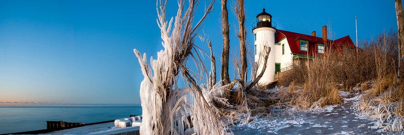January Evening at Point Betsie