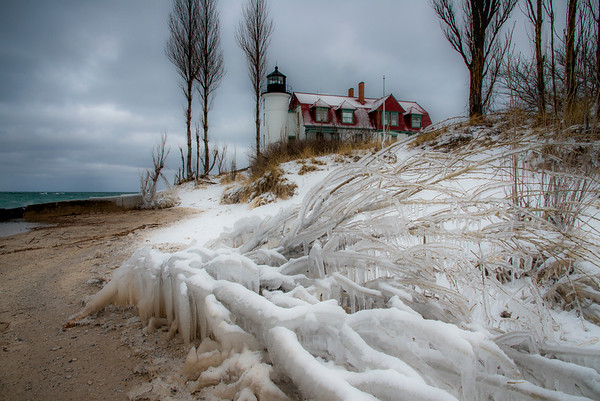 Point Betsie Lighthouse in January