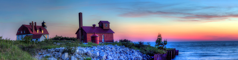 Point Betsie Lighthouse Evening