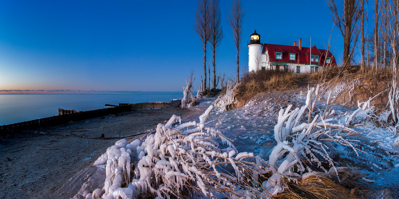 Last Light in Winter at Point Betsie