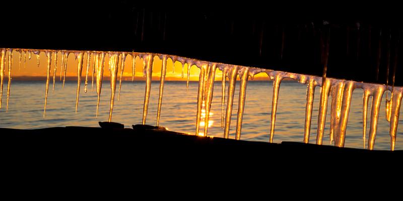 Sunset through Seawall