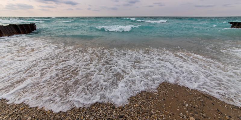 Waves on Point Betsie Shoreline
