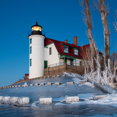 Point Betsie Lighthouse Square Winter