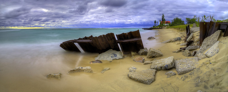 Remnants of a Pier at Point Betsie